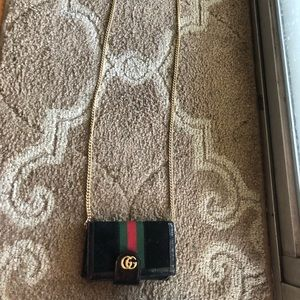 Gucci wallet on a chain phone carrier